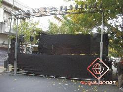 Alquiler de escenario con respaldo y laterales de 3mts x 15mts Alquiler de escenarios